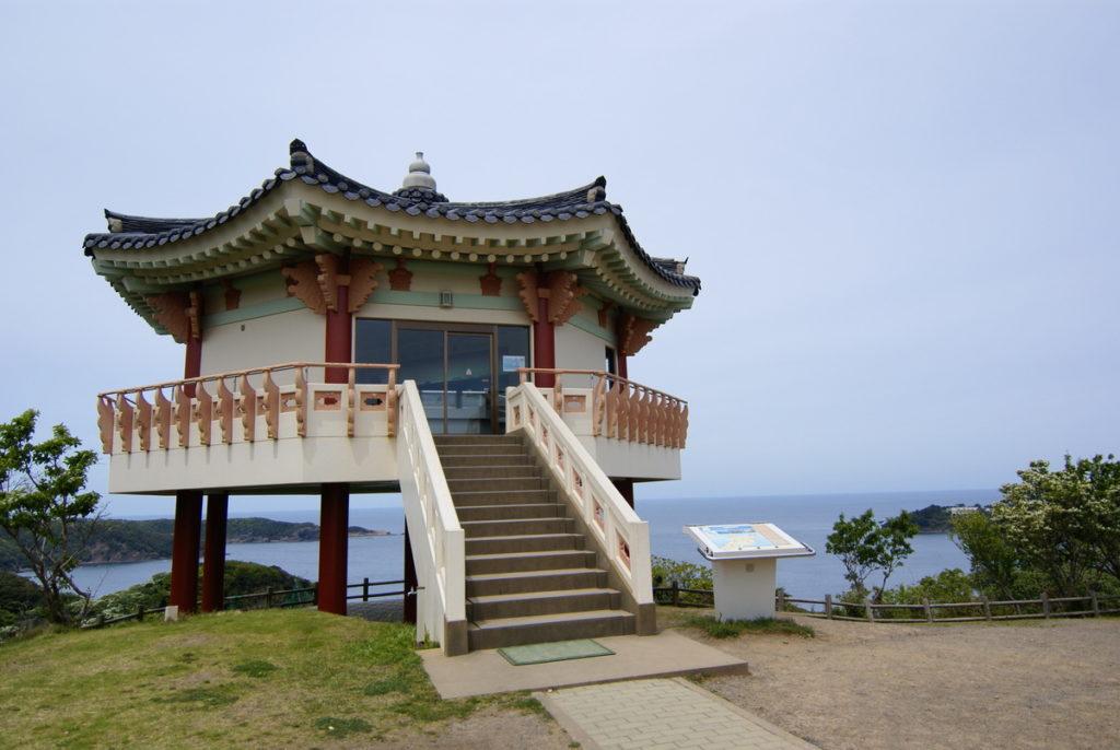 対馬 韓国展望台