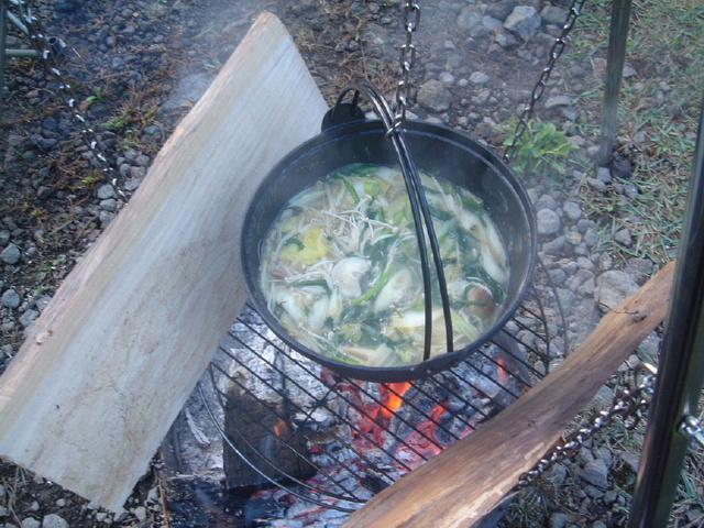ファイヤーグリル 鍋