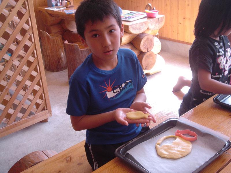 菊池高原ファミリーキャンプ場 クッキー教室 ダイキ
