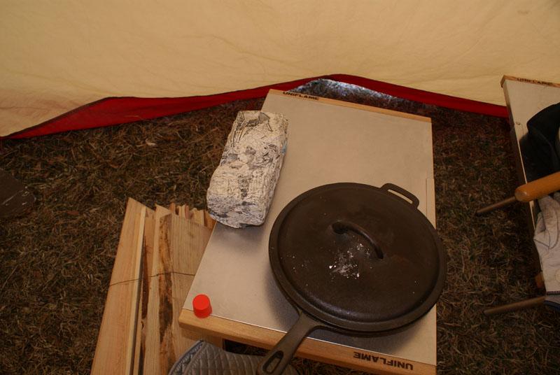 焚火テーブル スキレット