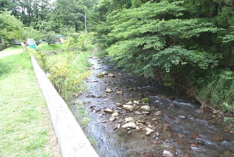 山鳥の森オートキャンプ場 川