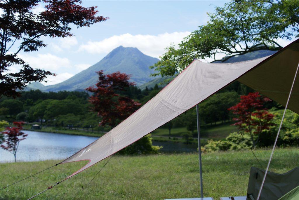 志高湖キャンプ場 ヘキサプロS 由布岳
