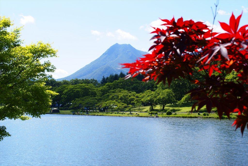 志高湖キャンプ場 由布岳