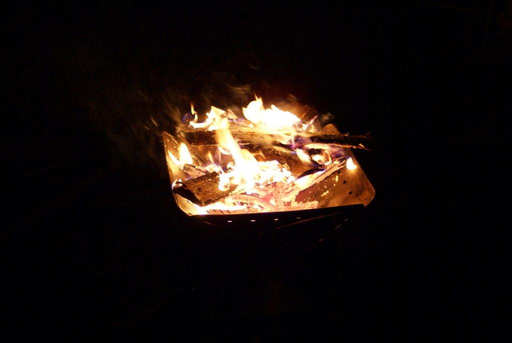 ひなもりオートキャンプ場 焚火