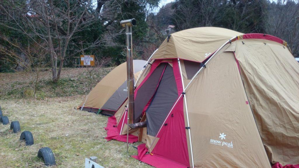 三日月の滝公園キャンプ場 年越しキャンプ