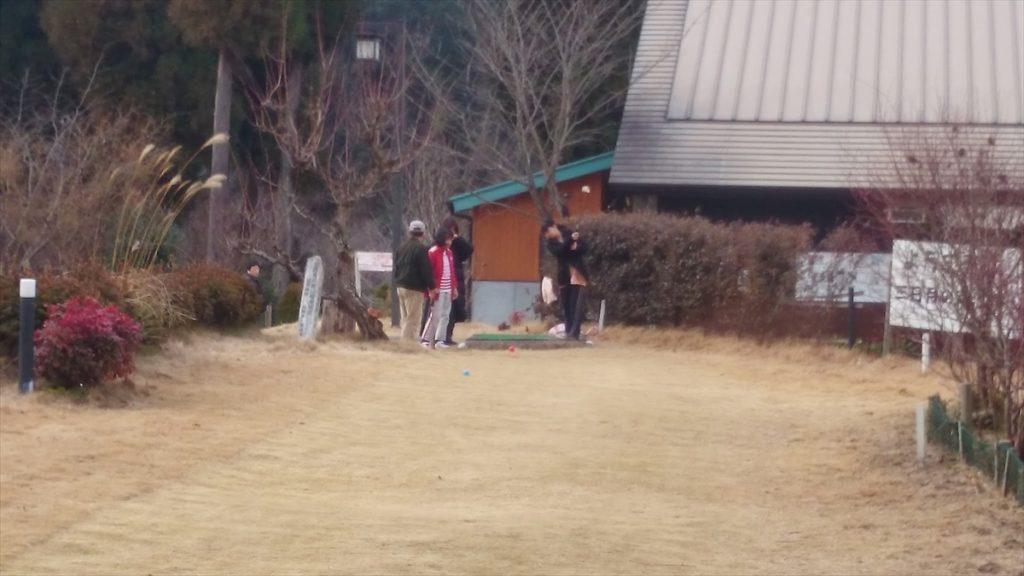 三日月の滝公園キャンプ場 グランドゴルフ
