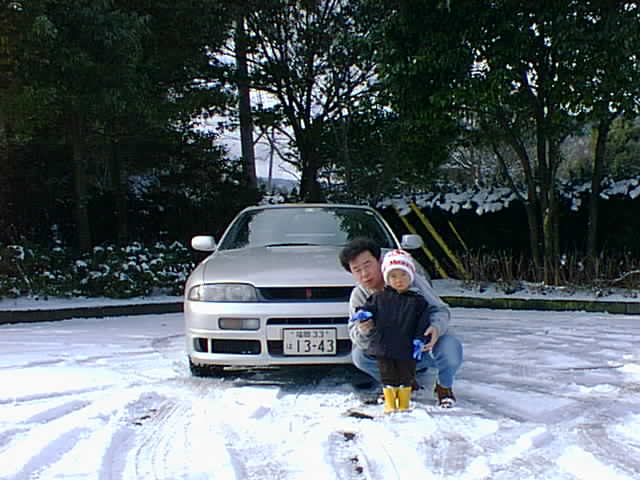 山神ダム 雪
