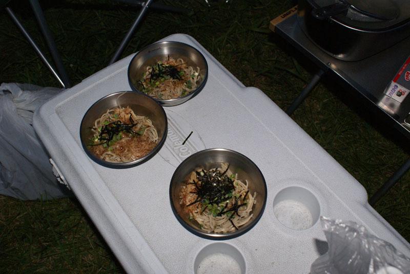シェラカップ ぶっかけ蕎麦