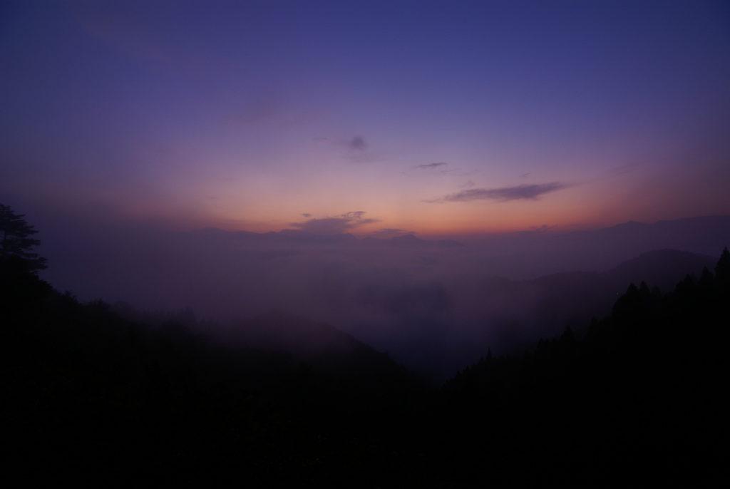 高千穂 雲海 朝焼け