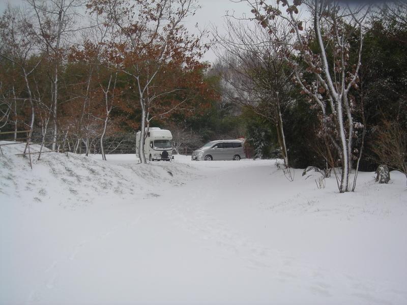 山鳥の森オートキャンプ場雪中キャンプ
