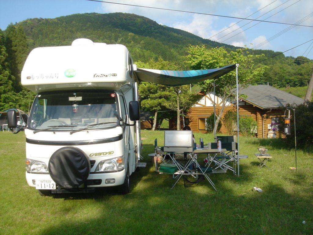 吉野山キャンプ場とキャンピングカー
