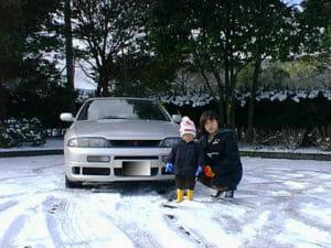 R33 スカイライン 雪