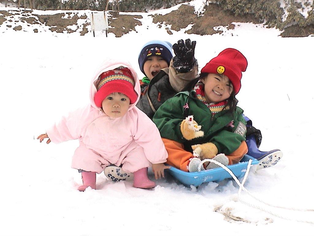 背振山 雪遊び