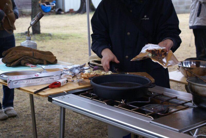 ひなもりキャンプ場 ダッチオーブン教室