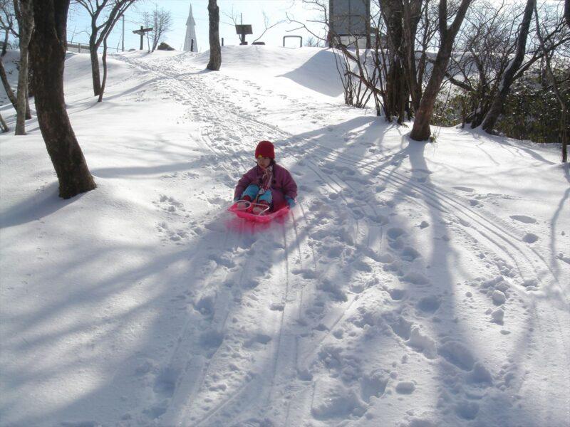 背振山 雪遊び カナ