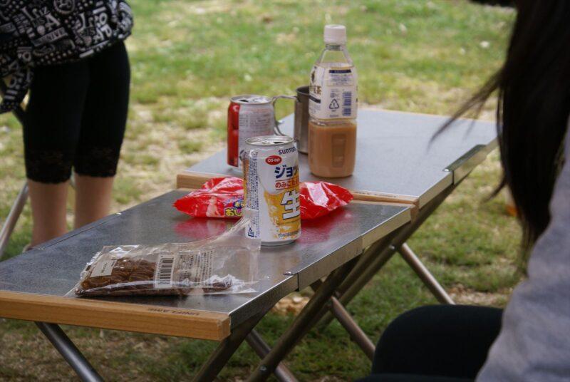 山鳥の森オートキャンプ場 焚火テーブル