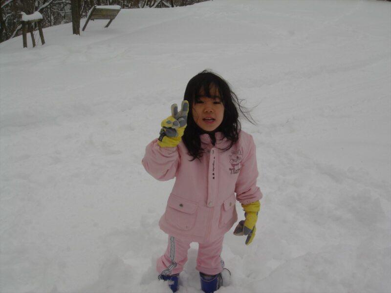 背振山 雪遊び チカ