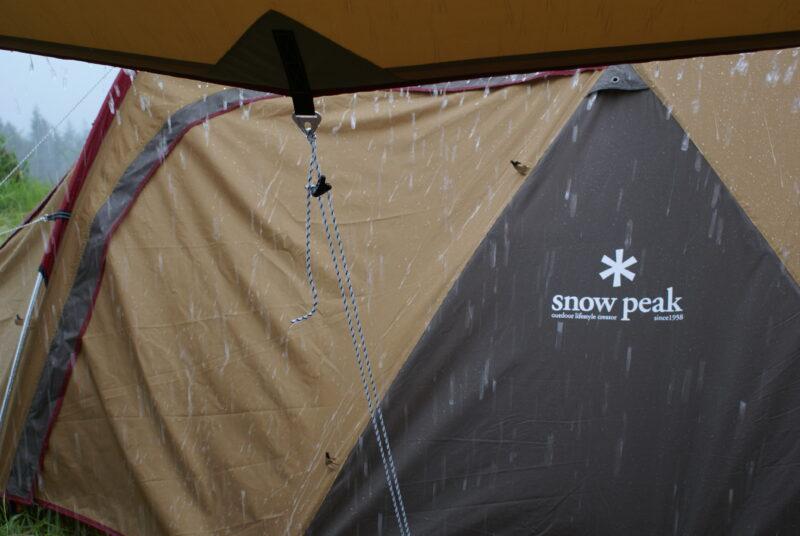 四季見原すこやかの森キャンプ場 雨