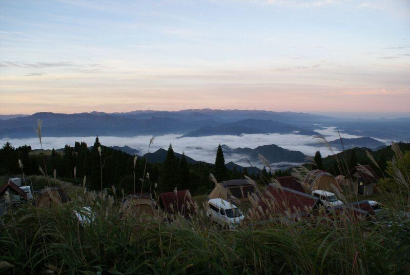 四季見原すこやかの森キャンプ場 雲海