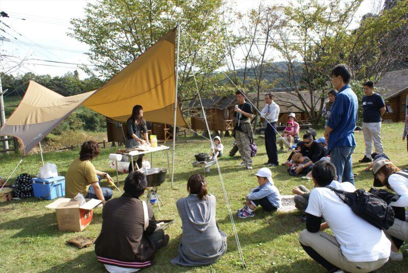 吉野山キャンプ場 料理教室