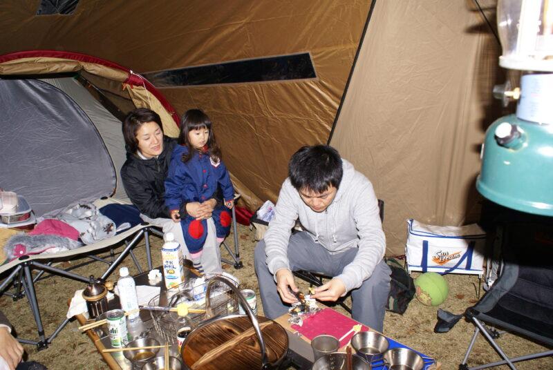 歌瀬キャンプ場 リビングシェル