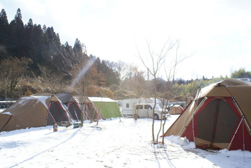 山鳥の森オートキャンプ場 年越しキャンプ