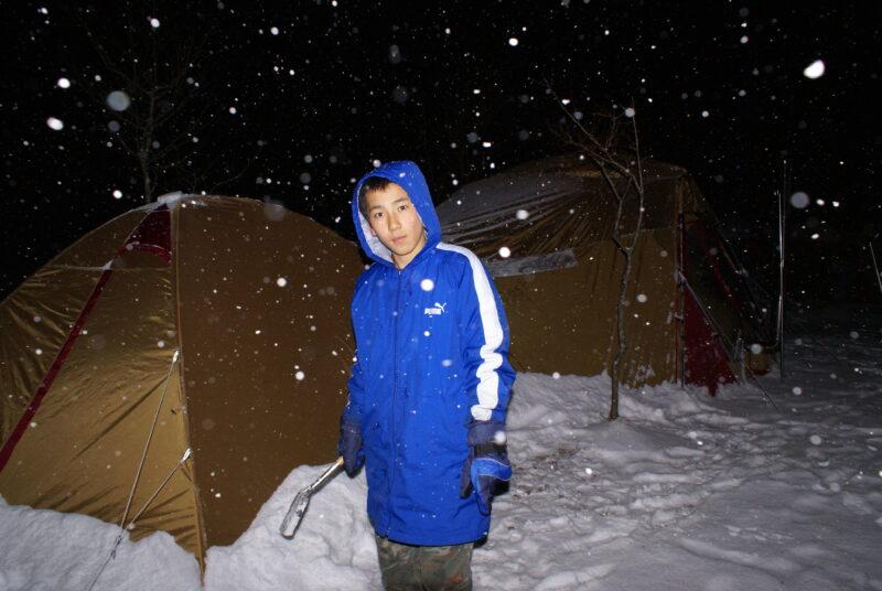 山鳥の森オートキャンプ場 雪中キャンプ ダイキ