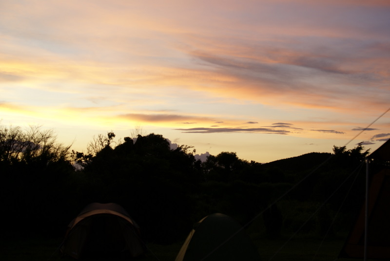 オートキャンプ場高原の里 夕焼け