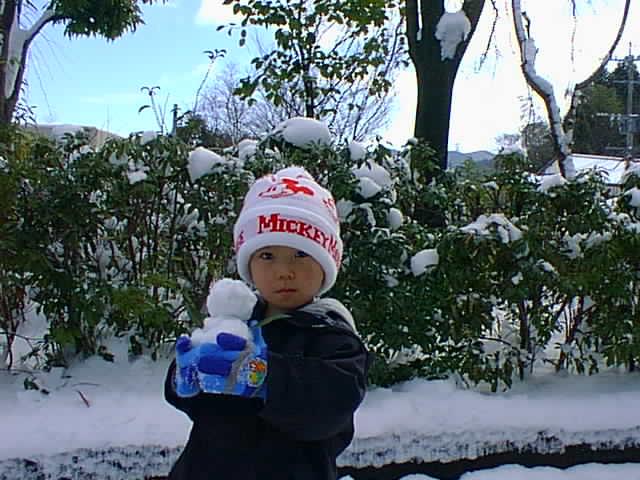 山神ダム ダイキ 雪だるま