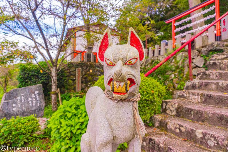 浮羽稲荷神社キツネ